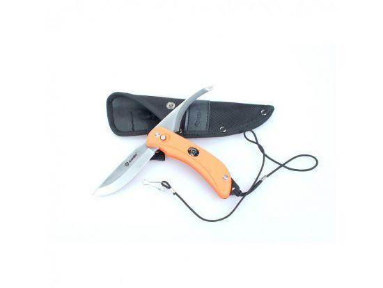 Нож Ganzo G802-ORC с двойным лезвием оранжевый в картонной коробке