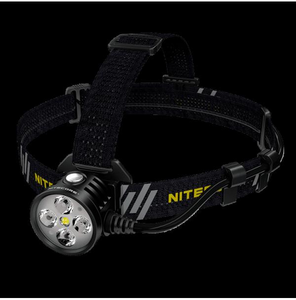 Фонарь налобный Nitecore HU60 (4xCree XP-G3 S3 + 1xXHP35 HD E2, 1600 люмен, 10 режимов, Bluetooth)