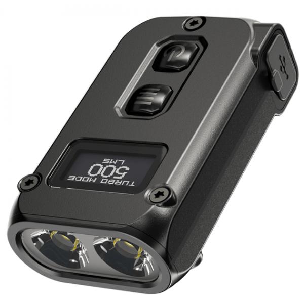 Фонарь Nitecore TINI 2 (2xOSRAM P8, 500 люмен, 5 режимов, USB Type-C), черный