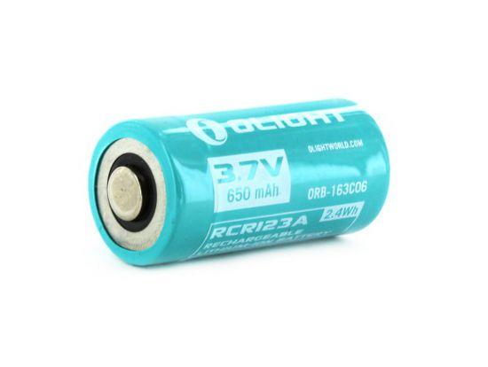 Аккум. батарея Olight RCR123 (16340) с зарядным портом micro-USB