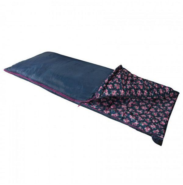 Спальный мешок Highlander Sleepline 250/+5°C Floral Blue (Left)