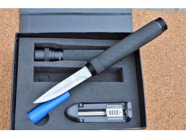 Нож Куботан Steelclaw Спелеолог с фонариком