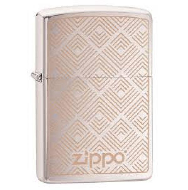 Зажигалка бензиновая Zippo 216 PF19 Geometric Boxes Design
