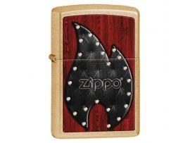 Зажигалка бензиновая Zippo Zippo 207G Leather Flame