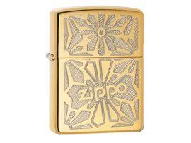 Зажигалка бензиновая Zippo Zippo Ornament High Polish Brass