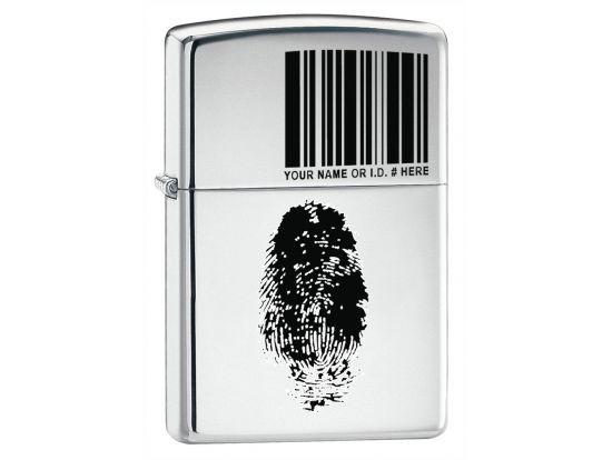 Зажигалка бензиновая Zippo 250 FINGER ID