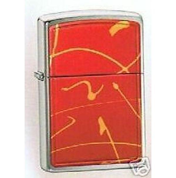 Зажигалка  бензиновая Zippo STRING PAINT - RED BRUSHED CHROME