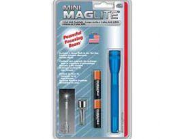 MINI MAGLITE AAA фонарик, карманный клип и 2 бат.(голуб)