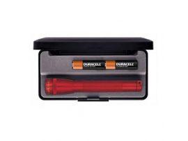 MINI MAGLITE AAA Фонарик, клипса и 2 батарейки (красный)