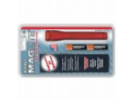 Фонарик AA, карманный клип, наручный шнурок, держ.(красный)