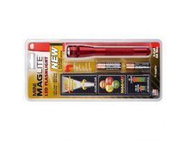 Фонарик Mini Maglite LED/2A2 (красный) в пласт.упаковке