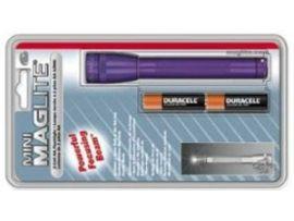MINI MAGLITE AA Фонарик и 2 батарейки в блист.(пурпур)