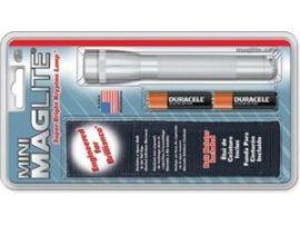 MINI MAGLITE AA Фонарик и 2 батарейки  в блист.(серый)