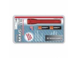 MINI MAGLITE AA фонарик и 2 батарейки в блистере (красн)