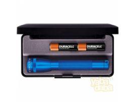 MINI MAGLITE AA Фонарик и 2 батарейки в под.кор.(голубой)