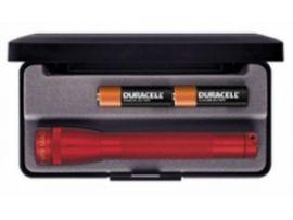 MINI MAGLITE AA Фонарик и 2 батарейки в под.уп.(красный)