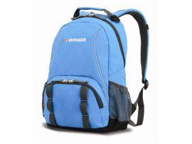 Рюкзак WENGER голубой/серый, полиэстер, 32х14х45 см