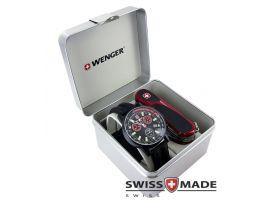 """Набор часы Commando Chrono и нож """"Wenger"""" 1.17.59.821"""
