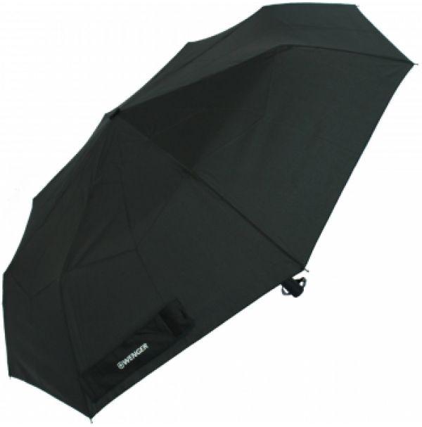 Зонт автоматический WENGER, черный, 6,5х34см, 495г