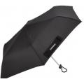 Зонт плоский телескопический WENGER, черный, 5,5х23,5см, вага 175г