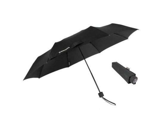 Зонт ручной телескопический WENGER, черный, 5х24см, 310г