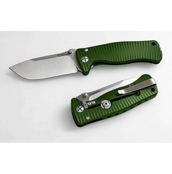 Нож Lionsteel SR MINI Green Alluminium body Inox Sleipner