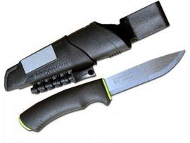 Нож MORA Bushcraft Survival, stainless steel, огниво, алмазное точило черный/желтый