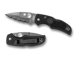 Нож Spyderco Native, FRN, полусеррейтор, черный клинок