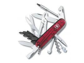 Victorinox CYBERTOOL  91мм/34предм/крас.прозр /штоп/ножн/плоск/отверт2/биты/ручка/миниотверт