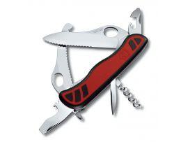Victorinox DUAL PRO  111мм/10предм/крас-черн.нейлон /одноруч/волн/lock/штоп/одноруч.стропорез