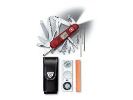 Victorinox EXPEDITION-KIT  Набор нож 91мм/33предм/крас.прозр+лин 40568-44+точилка+чехол