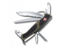 Victorinox RANGERGRIP 179  130мм/3сл/12предм/зел-черн /одноруч/волн/lock/штоп/пила