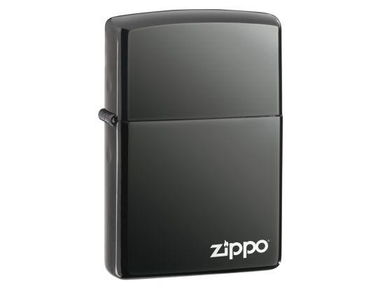 Зажигалка бензиновая Zippo BLACK ICE w/ZIPPO LOGO - Laser