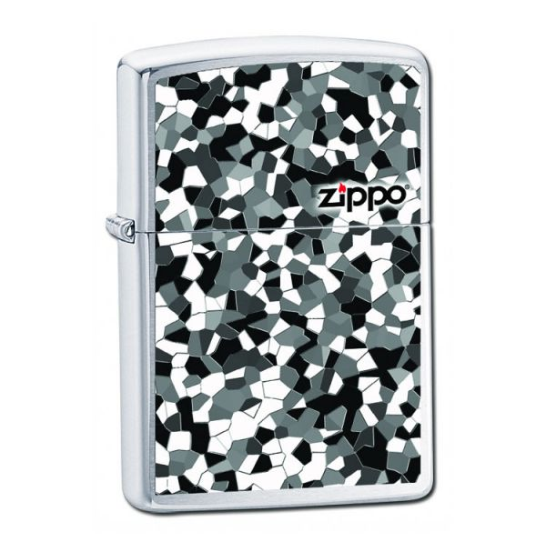 Зажигалка бензиновая Zippo BROKEN GLASS