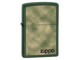 Зажигалка бензиновая Zippo DIGITAL ZIPPO GREEN