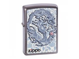 Зажигалка бензиновая Zippo ZIPPO Dragon Reg Brush Chrome
