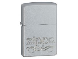 Зажигалка бензиновая Zippo 205 ZIPPO SCROLL SATIN CHROME