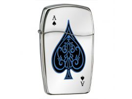 Зажигалка газовая Zippo Blu Ace of Spades High Polish Chrome