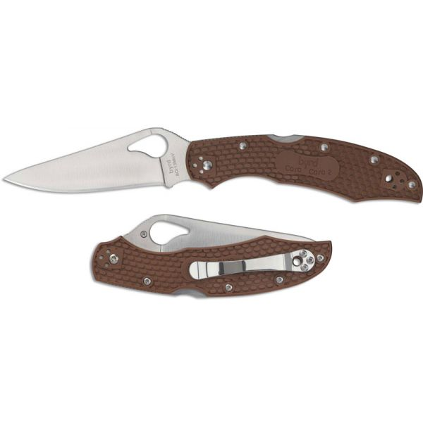 Нож Spyderco Byrd Cara Cara 2, коричневый