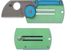 Нож Spyderco Dogtag Folder Alum/TI Plain