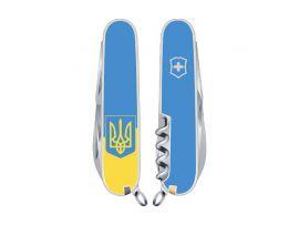 Victorinox SPARTAN UKRAINE  91мм/12предм/бел /штоп /желт-голуб. с Гербом/голуб.