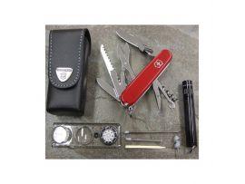 Victorinox TRAVELLER-SET  Набор нож 91мм/18предм/крас+лин 40568-44+фонарик Maglite+чехол