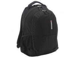 Рюкзак WENGER, черный, 3 отделения, 34х46х22 см, 24 л