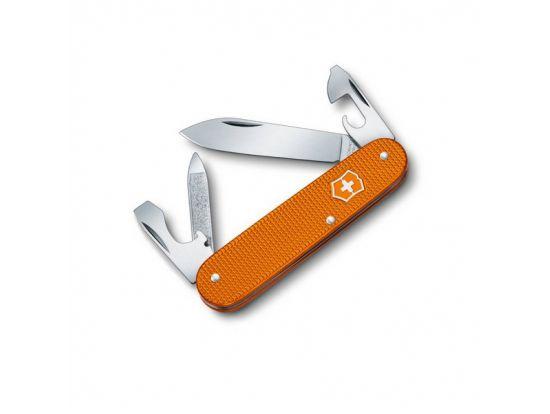 Victorinox CADET 84мм/2сл/9предм/рифл.оранж + кож.чехол
