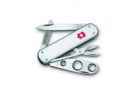 Victorinox CIGAR CUTTER  74мм/1сл/5предм/сереб/чехол /ножн/пробойник