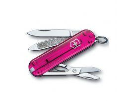 Victorinox CLASSIC  58мм/1сл/7предм/роз.прозр /ножн