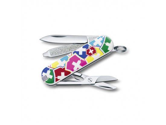 "Victorinox CLASSIC  ""VX Colors""  58мм/1сл/7предм/цветн/чехол /ножн"