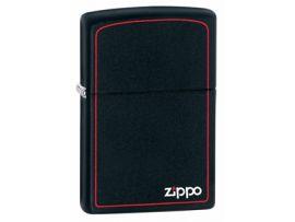 Зажигалка бензиновая Zippo  BLACK MATTE w/ZIPPO BORDER